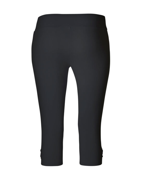 Black Cotton Lace-Up Skimmer, Black, hi-res