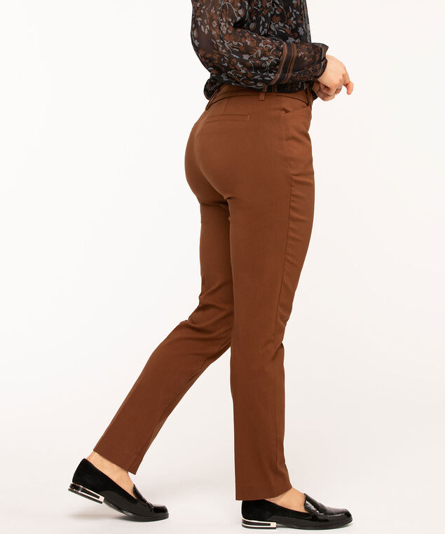 Copper Brown Slim Leg Pant, Copper Brown