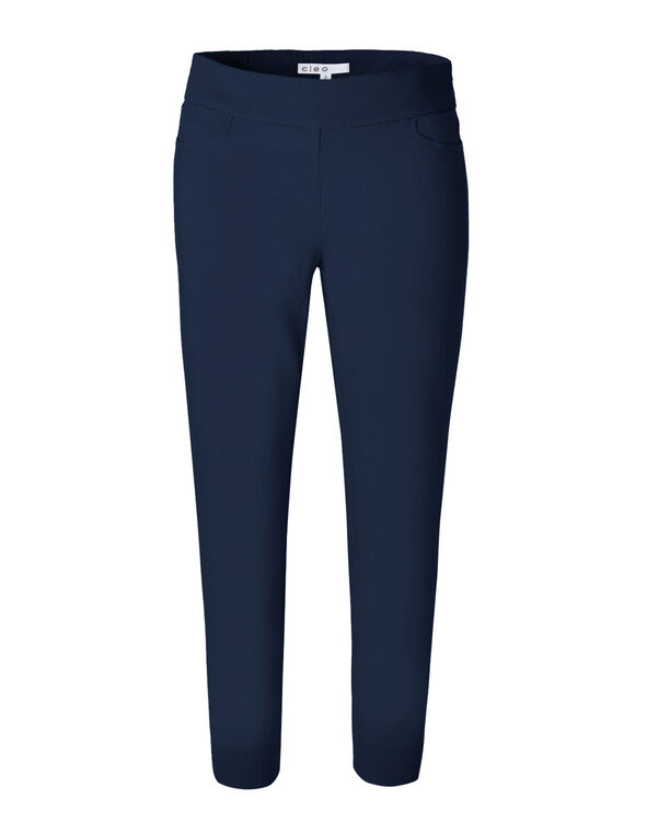 Navy Ankle Pull On Pant, Navy, hi-res