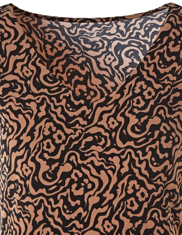 Leopard Print Essential Layering Tank, Black, hi-res