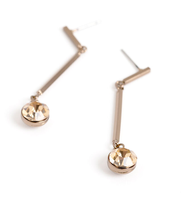 Topaz Gold Bar Drop Earring, Topaz