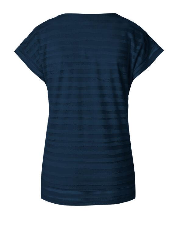 Summer Navy Striped Burnout Top, Summer Navy, hi-res