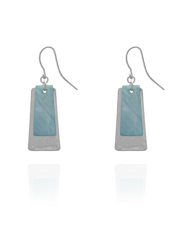 Turquoise Rectangular Earring, Turquoise, hi-res
