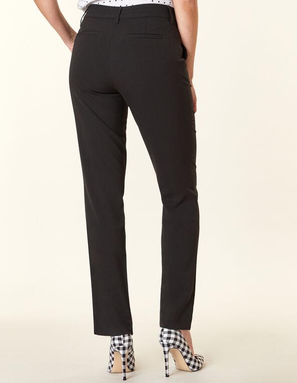 Black Straight Slim Leg Pant, Black