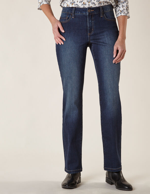 Mid Wash Straight Leg Jean, Blue/Navy, hi-res