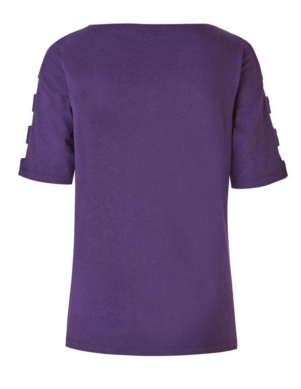 Purple Open Arm Top, Purple, hi-res