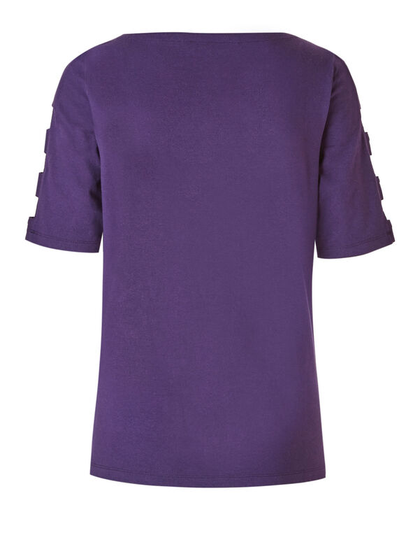 Purple Open Arm Top, Purple, hi-res