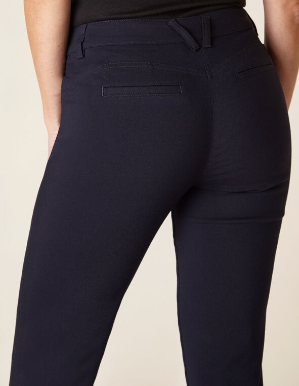 Navy Butt Lift Slim Pant, Navy, hi-res