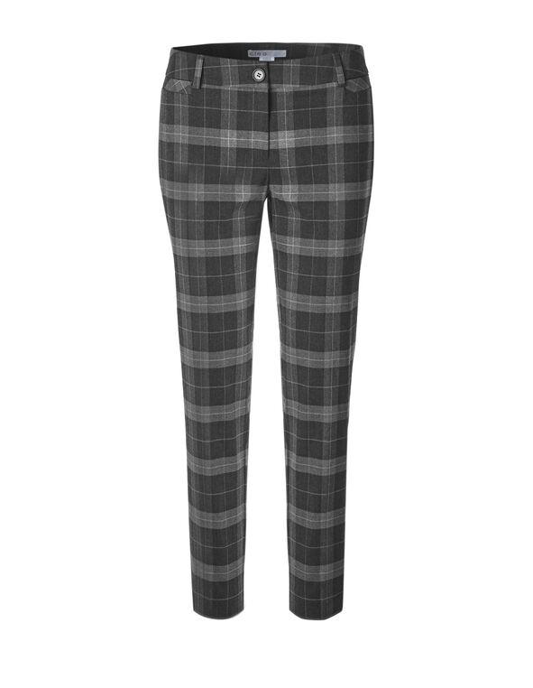 Grey Plaid Ankle Pant, Grey Plaid, hi-res