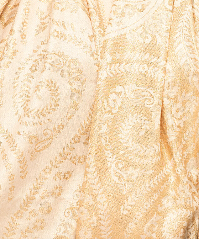 Laurel Leaf Oblong Scarf, Natural, hi-res