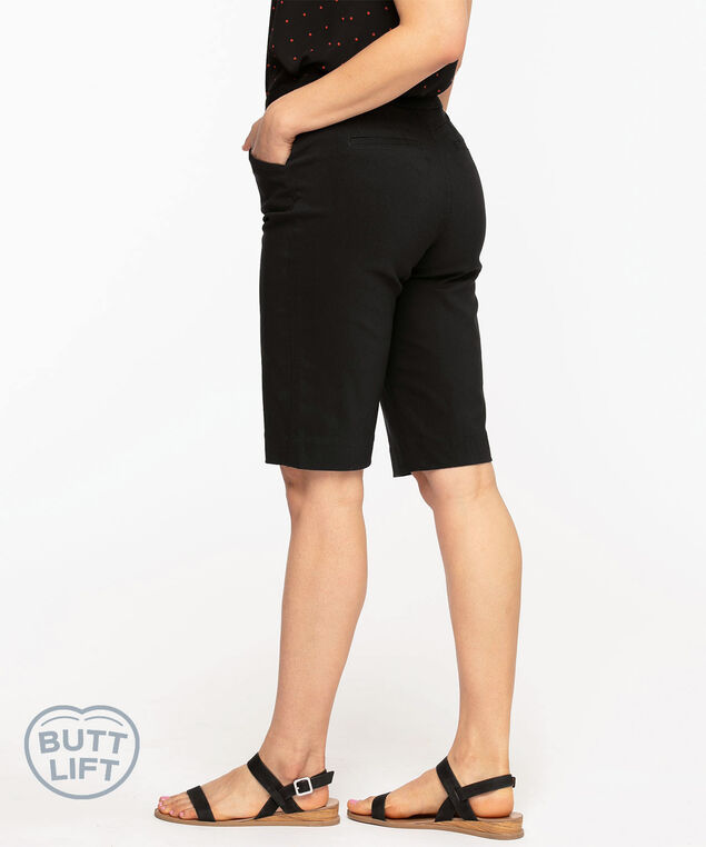 Pull On Butt Lift Short, Black