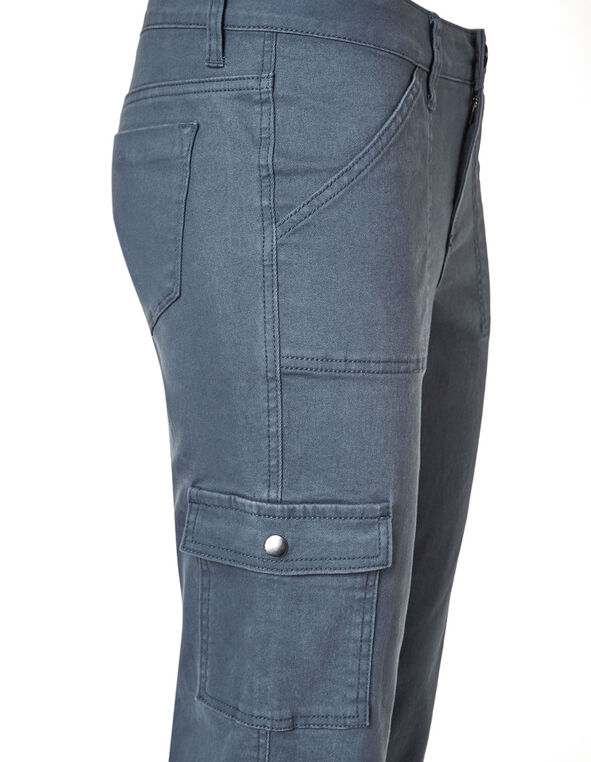 Blue Cargo Slim Leg Jean, Smoky Blue, hi-res