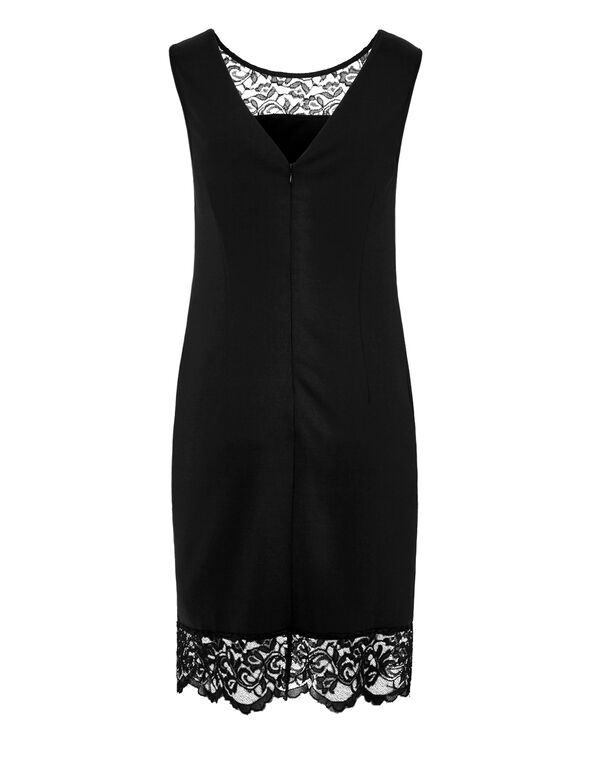 Floral Lace Shift Dress, Black/Claret/Dusty Pink/White, hi-res