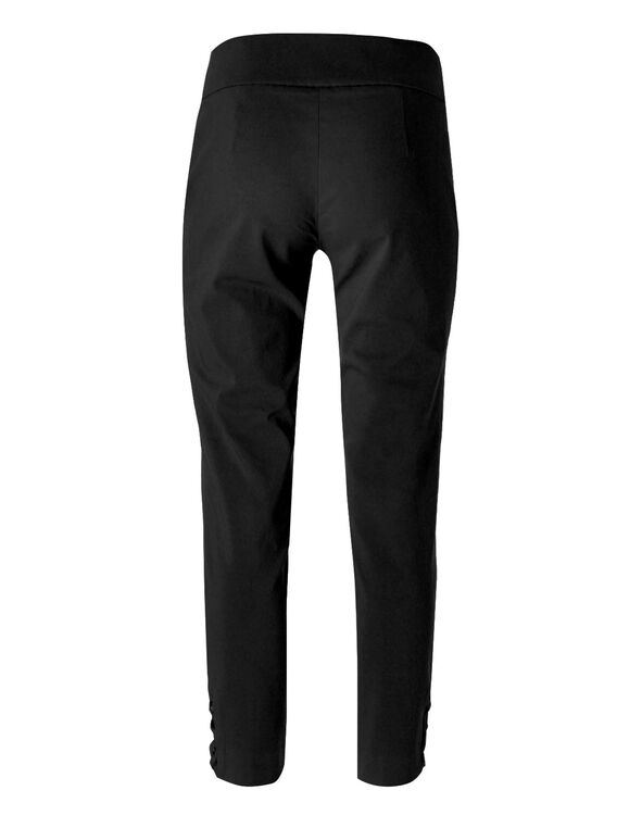 Black Pull On Ankle Pant, Black, hi-res