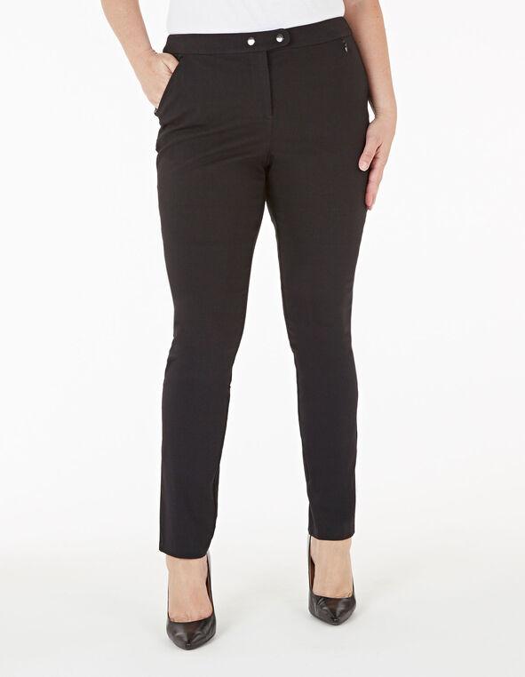 Black Skinny Leg Pant, Black, hi-res