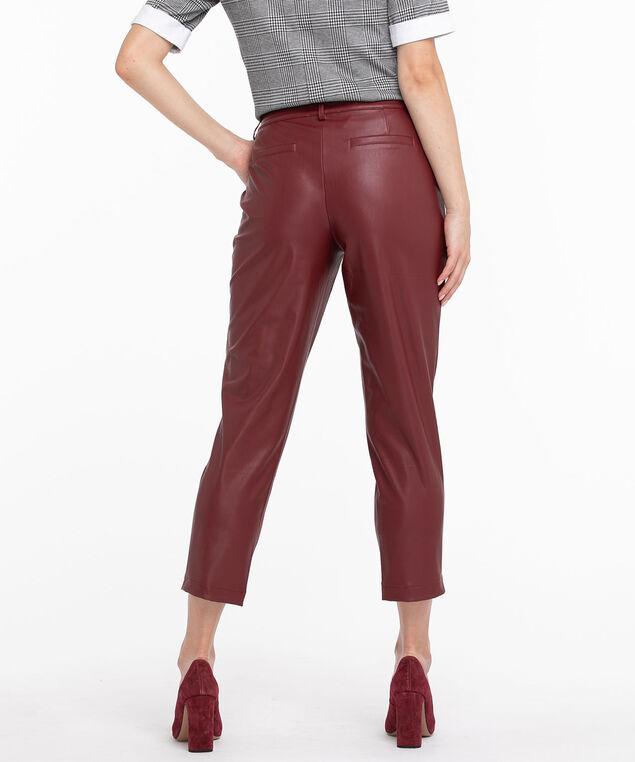 Oxblood Vegan Leather Crop Pant, Oxblood