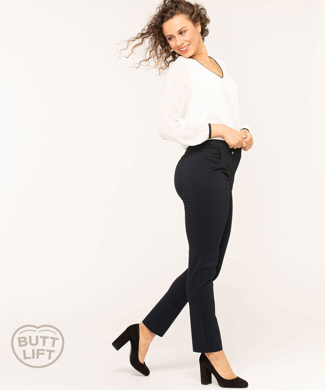 Navy Butt Lift Slim Pant, Navy
