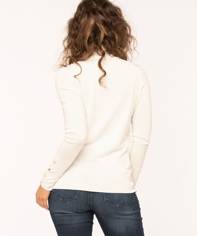 Long Sleeve Essential Turtleneck, Ivory