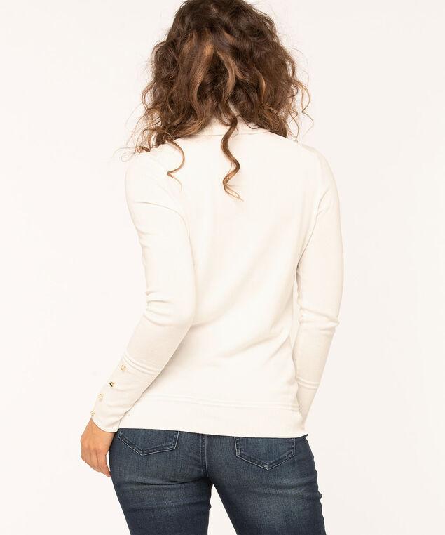 Long Sleeve Essential Turtleneck, Ivory, hi-res