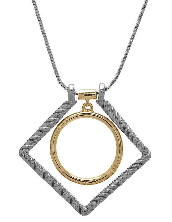 Silver Adjustable Necklace, Silver, hi-res