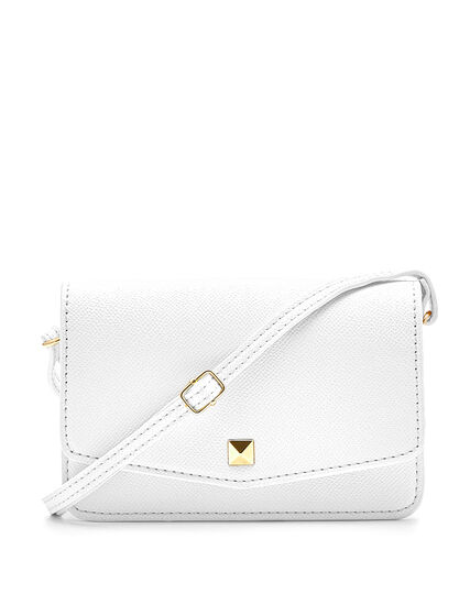 White Phone Case Crossbody Bag, White, hi-res
