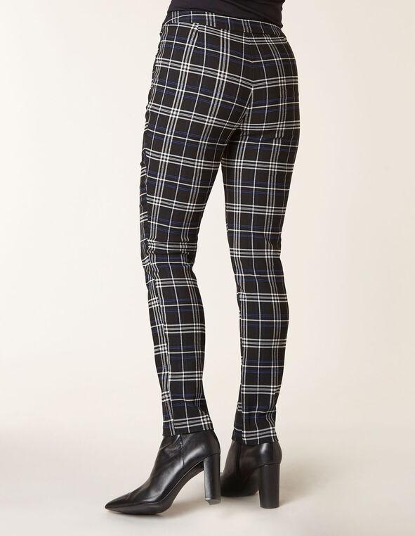 Sapphire Plaid Skinny Pant, Black/Sapphire, hi-res