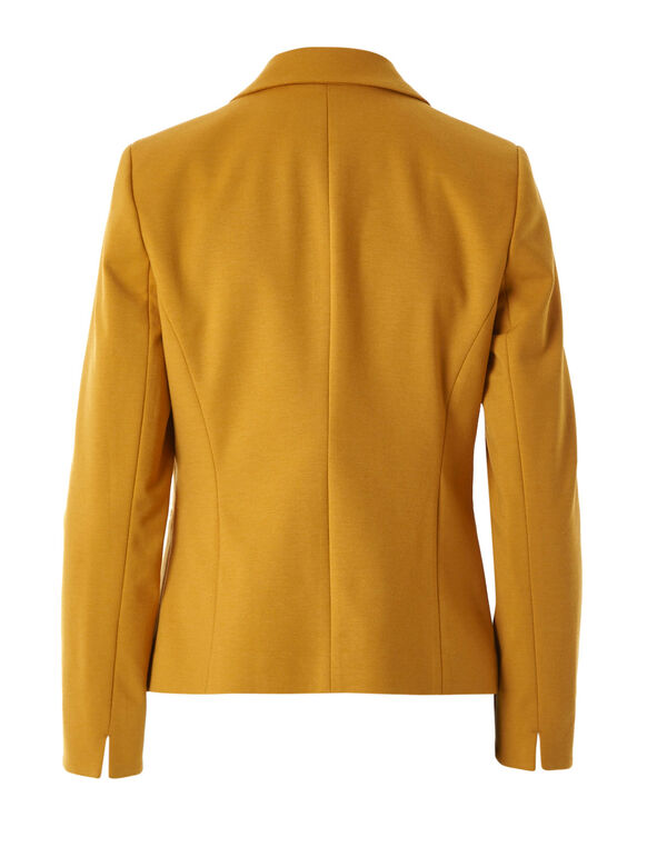 Ochre Open Styled Blazer, Mustard, hi-res