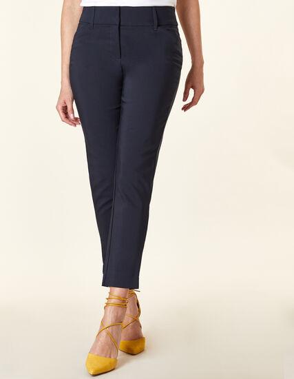 Navy Slim Leg Ankle Pant, Navy, hi-res