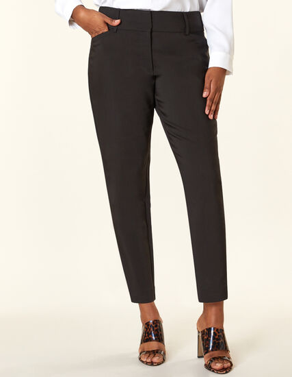 Black Slim Leg Ankle Pant, Black, hi-res