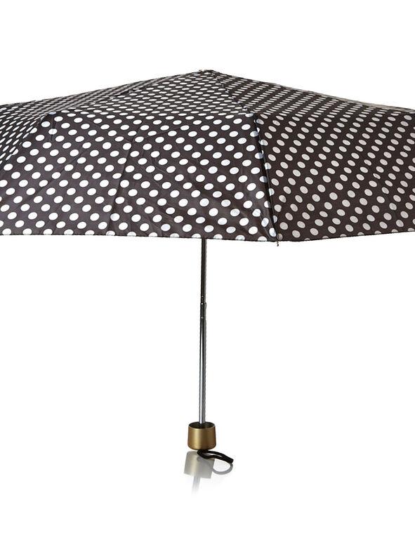 Black Dotted Umbrella, Wht/Blk, hi-res