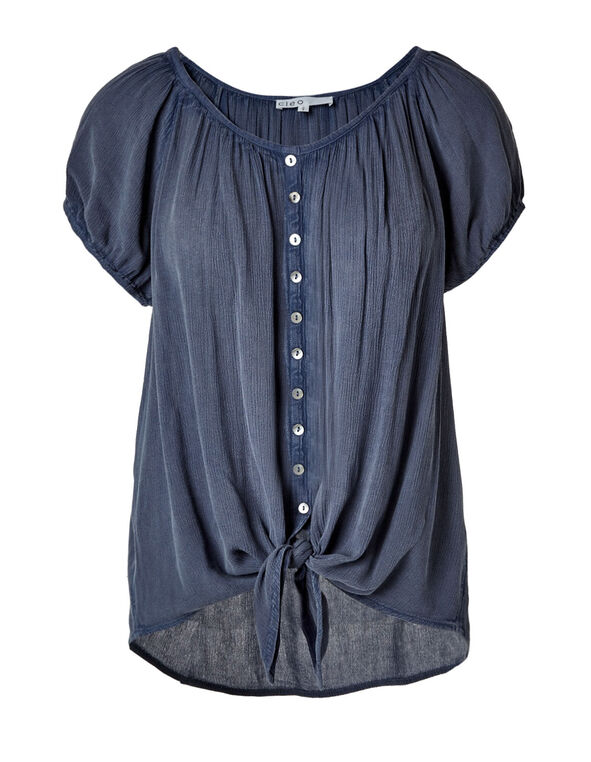 41392d0987eb ... Chambray Tie Front Blouse, Chambray, hi-res. Sale