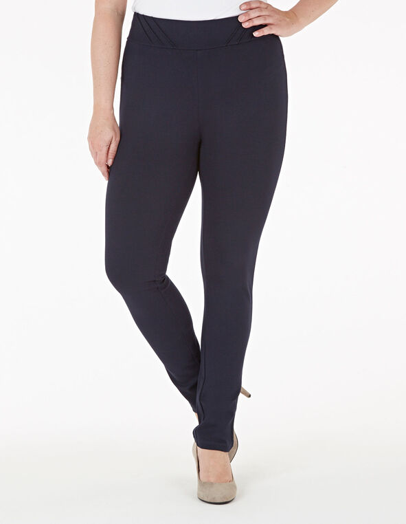 Navy Pull On Legging, Navy, hi-res