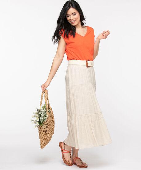 Stone Peasant Skirt, Stone, hi-res