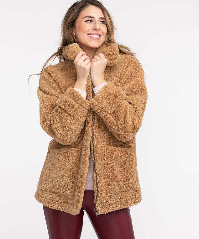 Teddy Bear Jacket, Camel