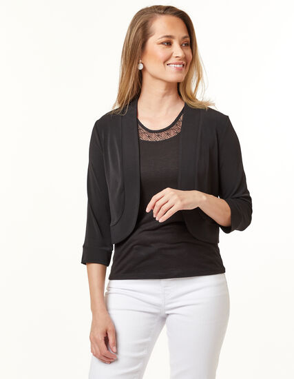 Open Shrug, Black, hi-res