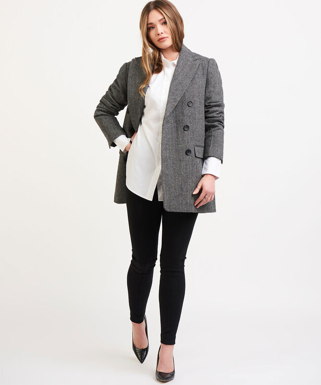 Dex Black Tape Herringbone Jacket, Black/Grey