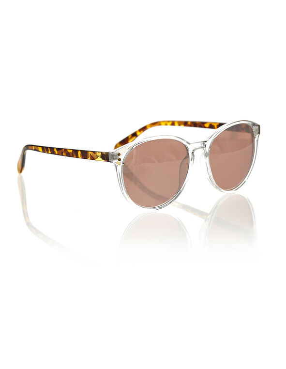 Clear Frame Sunglasses, White, hi-res