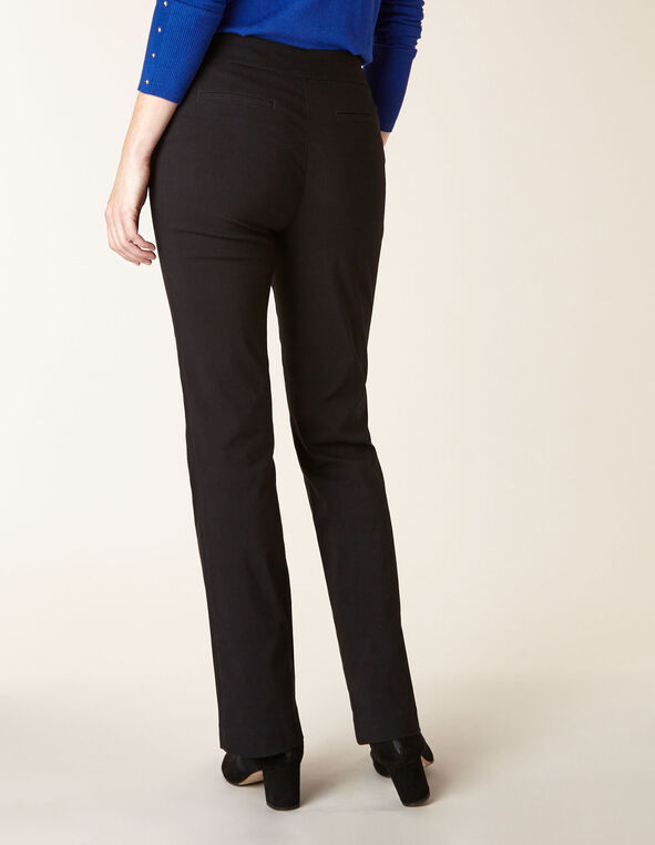Black Pull On Bootcut Pant, Black, hi-res