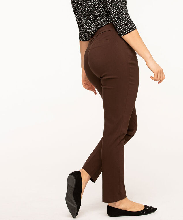 Chocolate Brown Slim Leg Pant, Chocolate Brown