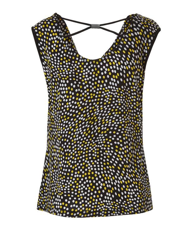 Black Printed Top, Black/Yellow/White, hi-res