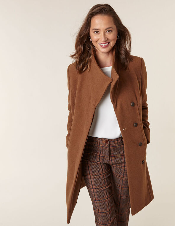 Camel Classic Wool Blend Coat, Camel, hi-res