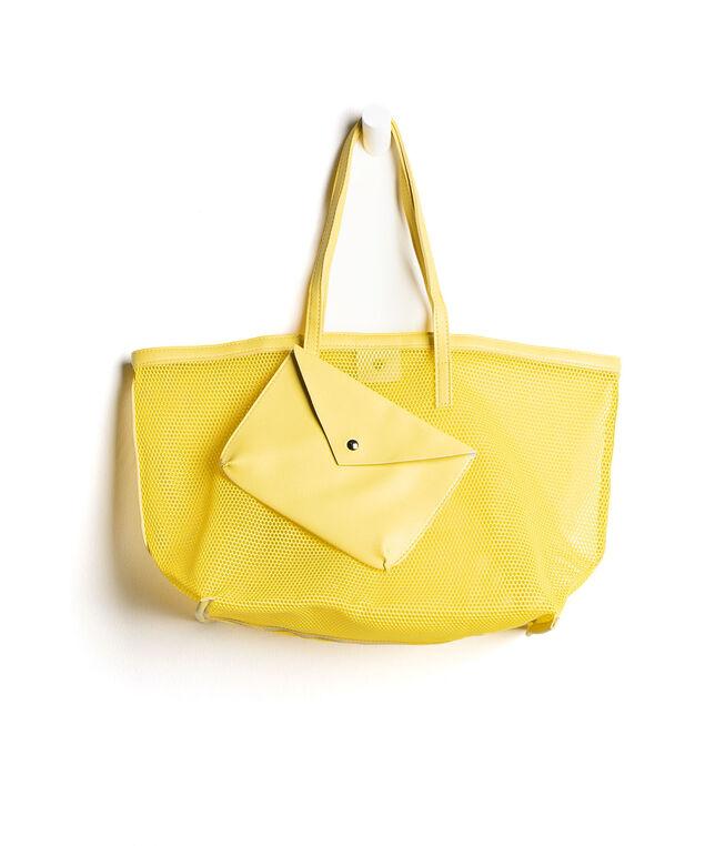 Mesh Tote Bag, Yellow