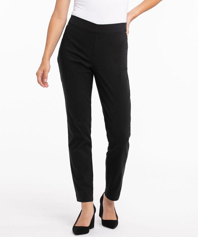 Low Impact Butt Lift Slim Pant, Black