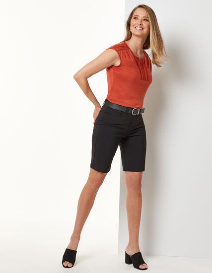 Black Slim Short, Black, hi-res