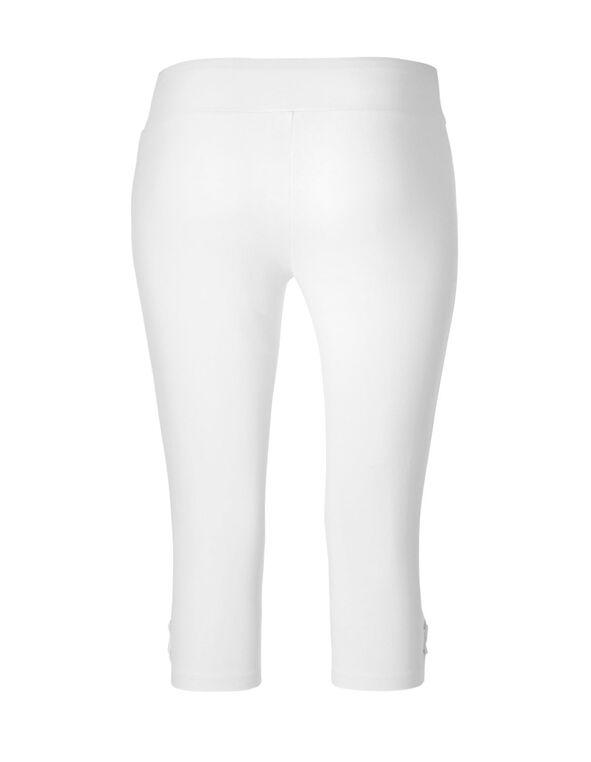 White Cotton Lace-Up Skimmer, White, hi-res