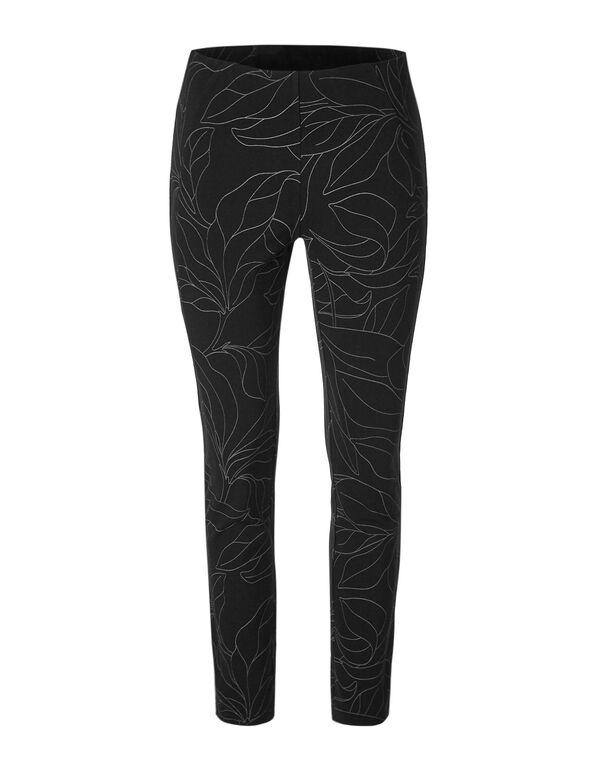 Black Printed Legging, Black, hi-res