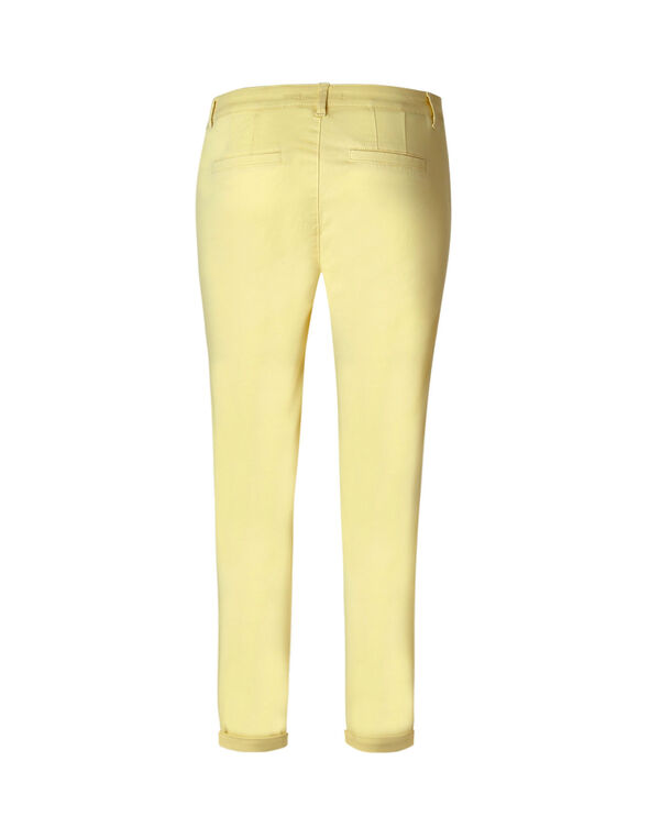 Butter Cotton Chino Ankle Pant, Butter, hi-res