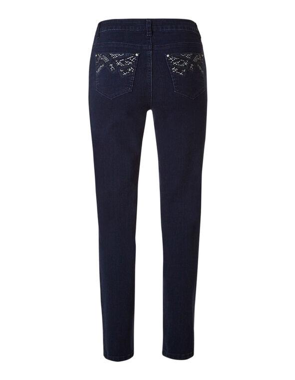 Dark Wash 5 Pocket Slim Leg Jean, Dark Wash, hi-res