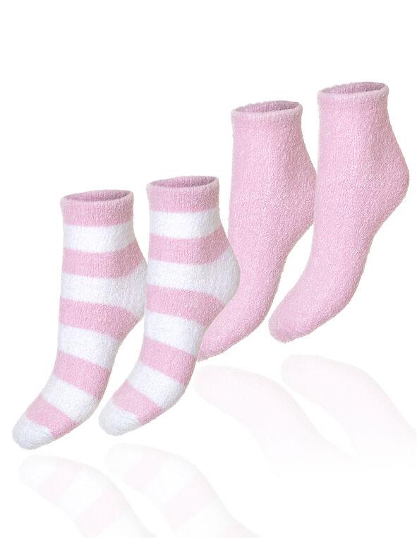 Pink Aloe Infused Socks, Pink, hi-res