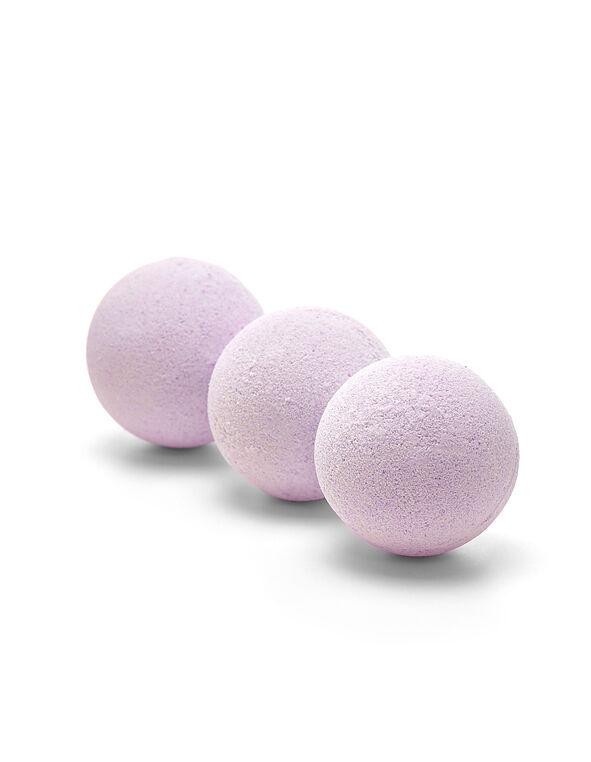 3 Pack Lavender Bath Bombs, Purple, hi-res